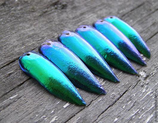Для украшений ручной работы. Ярмарка Мастеров - ручная работа. Купить Крылья тропических жуков Элитра (Elytra) (Златки) зеленые тайские. Handmade.