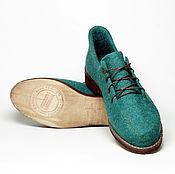 """Обувь ручной работы. Ярмарка Мастеров - ручная работа Комплект туфельки и сумка  """"Изумрудное побережье"""". Handmade."""