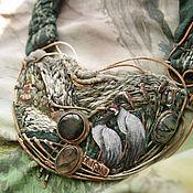 """Украшения ручной работы. Ярмарка Мастеров - ручная работа """"Harmony of Existence"""" колье и шарф. Handmade."""