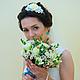 Свадебные украшения ручной работы. Ободок для волос с цветами - Свадебный. Tanya Flower. Интернет-магазин Ярмарка Мастеров. Ободок для волос