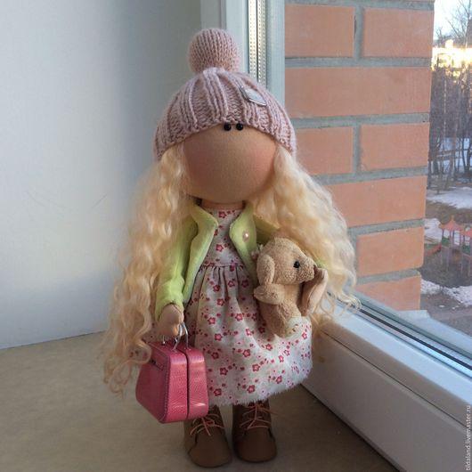 Куклы тыквоголовки ручной работы. Ярмарка Мастеров - ручная работа. Купить Дженни. Handmade. Комбинированный, кукла текстильная, волосы кукольные