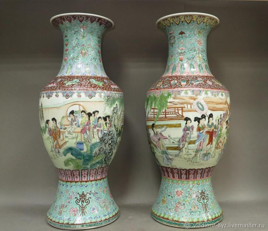 Парные Китайские вазы, Вазы, Москва,  Фото №1