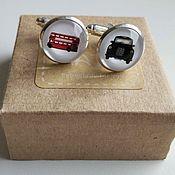 Украшения handmade. Livemaster - original item Cufflinks silver plated London transport. Handmade.