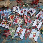 """Подарки к праздникам ручной работы. Ярмарка Мастеров - ручная работа """"Новогодние истории"""" гирлянда. Handmade."""