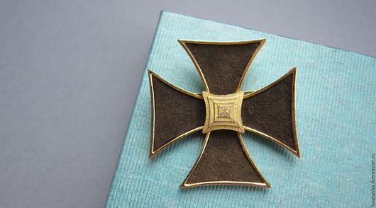 Винтажные украшения. Ярмарка Мастеров - ручная работа. Купить Мальтийский крест Marvella. Handmade. Комбинированный, винтажная брошь, стильное украшение