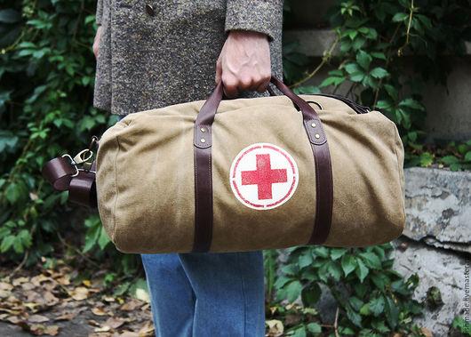Рюкзаки ручной работы. Ярмарка Мастеров - ручная работа. Купить Medical tool bag  (трансформер). Handmade. Ретро стиль, канвас