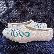 """Обувь ручной работы. Ярмарка Мастеров - ручная работа Тапочки валяные женские """"Весенние ручьи"""". Handmade."""