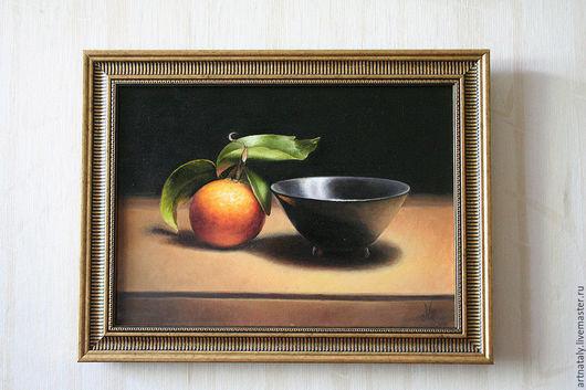 Картина маслом `Апельсин` (масло, холст 30х30) Автор: Ермакова Наталья (Nataly)