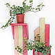 Мебель ручной работы. Ярмарка Мастеров - ручная работа. Купить Полочка для цветов. Handmade. Фуксия, декор стен, укшанеие, флора