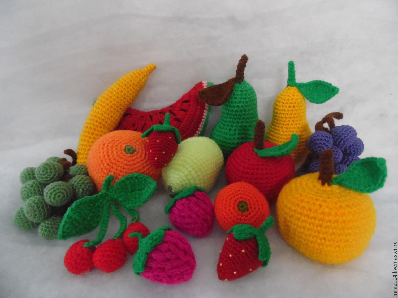 Крючок вязание фруктов