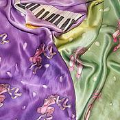 """Аксессуары ручной работы. Ярмарка Мастеров - ручная работа Шелковый шарф """"С пуантами"""". Handmade."""