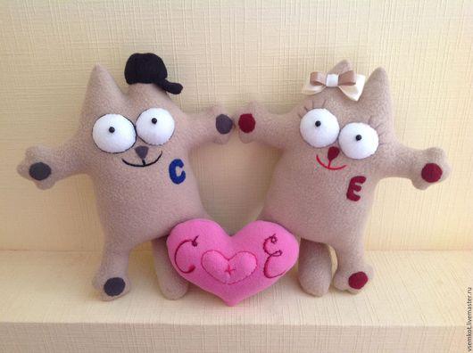 Подарки для влюбленных ручной работы. Ярмарка Мастеров - ручная работа. Купить Коты Саймона Подарок влюблённым Подарок для пары. Handmade.