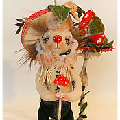 Куклы и игрушки ручной работы. Ярмарка Мастеров - ручная работа авторская игрушка Ёжик - Мухоморчик. Handmade.