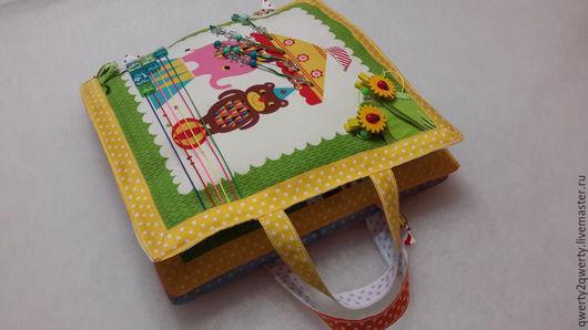 """Развивающие игрушки ручной работы. Ярмарка Мастеров - ручная работа. Купить Развивающая книжка для малыша """"Цирк"""". Handmade. Разноцветный, детская"""