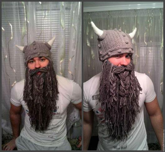 Шапки ручной работы. Ярмарка Мастеров - ручная работа. Купить Шапка с бородой. Handmade. Комбинированный, шапка викинга, необычный подарок