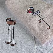 Для дома и интерьера ручной работы. Ярмарка Мастеров - ручная работа Доченьке . Комплект полотенец.. Handmade.