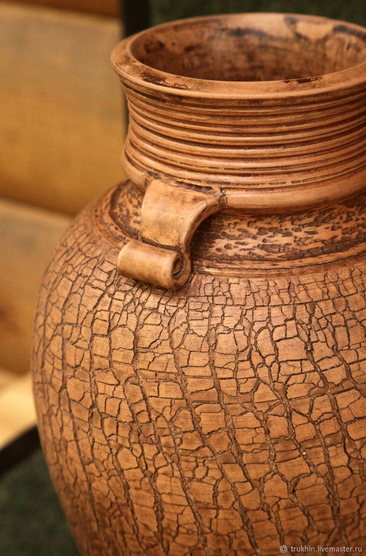 Ваза (глина, лощение, молочение)