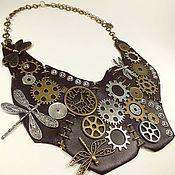 Украшения handmade. Livemaster - original item Time of disappears dragonflies. Necklace. Metal, leather. Steampunk. Handmade.