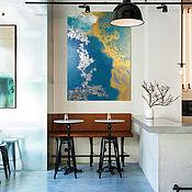 """Картины ручной работы. Ярмарка Мастеров - ручная работа Интерьерная картина """"Голубая лагуна"""" 50х70 см. Handmade."""