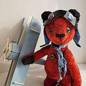 Куклы и игрушки ручной работы. Ярмарка Мастеров - ручная работа медвежонок-тедди Авиатор. Handmade.