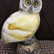 Для дома и интерьера handmade. Livemaster - original item Sculpture made of natural Ural semi-precious stone Owl. Handmade.