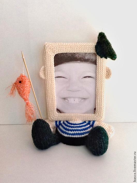 """Подарки для мужчин, ручной работы. Ярмарка Мастеров - ручная работа. Купить Рамка для фото """"Рыбачок"""". Handmade. Фоторамка, для дома, мальчику"""