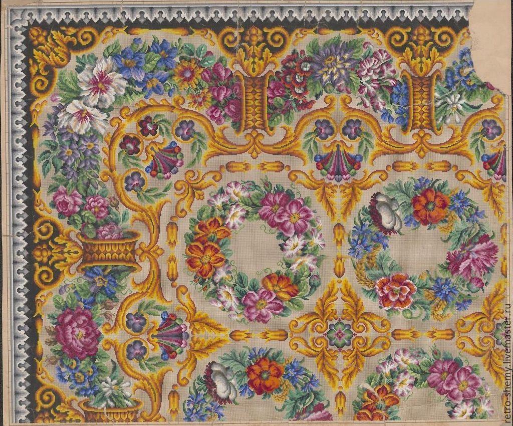 Схемы вышивки на ковер 36