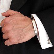Украшения ручной работы. Ярмарка Мастеров - ручная работа Мужской серебряный браслет с гравировкой на заказ для мужчин. Handmade.