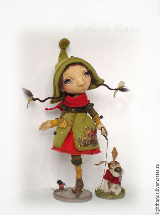 Коллекционные куклы ручной работы. Ярмарка Мастеров - ручная работа. Купить В зимний день. Коллекционная кукла. Handmade. Оливковый