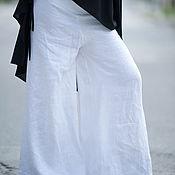 Одежда handmade. Livemaster - original item Women`s linen trousers skirt - PA0377LE. Handmade.