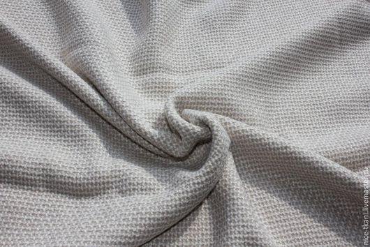 Шитье ручной работы. Ярмарка Мастеров - ручная работа. Купить 33801 нежная костюмно-плательная ткань Chanel. Handmade. Бежевый
