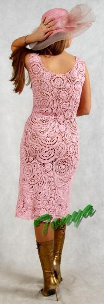 Платья ручной работы. Ярмарка Мастеров - ручная работа. Купить Розовый зефир. Handmade. Фриформ, хлопок, платье вязаное, хлопок