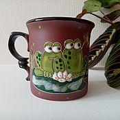 Посуда handmade. Livemaster - original item Mugs and cups: Frogs. Handmade.