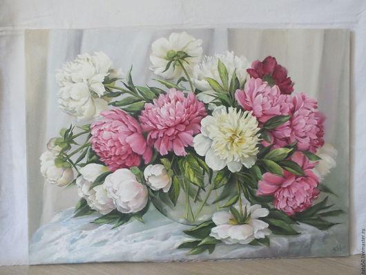"""Картины цветов ручной работы. Ярмарка Мастеров - ручная работа. Купить """" Ах, как пахнут!"""". Handmade. Розовый, картина для интерьера"""
