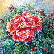 """Картины ручной работы. Ярмарка Мастеров - ручная работа Картина маслом """" Роза - Королева цветов """". Handmade."""