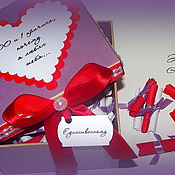 """Упаковочная коробка ручной работы. Ярмарка Мастеров - ручная работа Коробочка с признанием №2 """"100 причин, почему я люблю тебя"""". Handmade."""