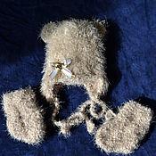 """Работы для детей, ручной работы. Ярмарка Мастеров - ручная работа Шапочка на выписку """"Мишутка"""". Handmade."""