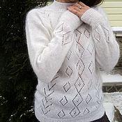 Одежда handmade. Livemaster - original item Slim, down-filled jumper Comfort. Handmade.