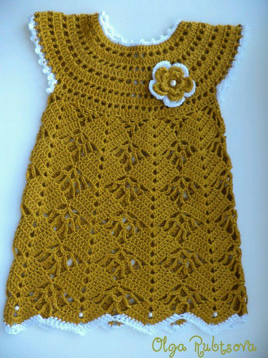 Одежда для девочек, ручной работы. Ярмарка Мастеров - ручная работа. Купить Платье вязаное для девочки.. Handmade. Платье для девочки