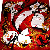 """Аксессуары ручной работы. Ярмарка Мастеров - ручная работа Шелковый платок батик """"Танго"""". Handmade."""