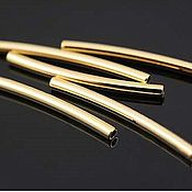 Материалы для творчества handmade. Livemaster - original item The hollow connector tube 20 mm gold plated th. Korea (2825). Handmade.