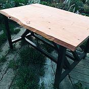 Для дома и интерьера handmade. Livemaster - original item Table from a slab of cedar Dovetail. Handmade.