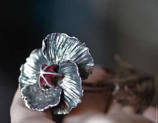 "Броши ручной работы. Ярмарка Мастеров - ручная работа. Купить Брошь-кулон ""Poppy"". Handmade. Poppy, fkower, valeria markova"