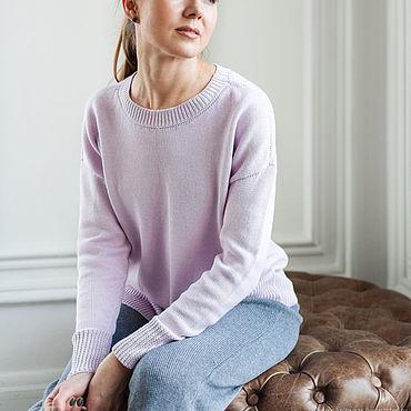 Одежда ручной работы. Ярмарка Мастеров - ручная работа Свободный свитер с круглым вырезом. Handmade.
