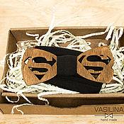 Аксессуары handmade. Livemaster - original item Superman Wooden bow tie, wooden bow Tie. Handmade.