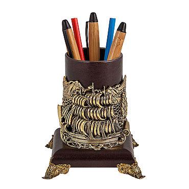 Канцелярские товары ручной работы. Ярмарка Мастеров - ручная работа Карандашница Попутного ветра. Handmade.