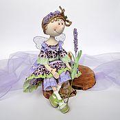 Куклы и игрушки ручной работы. Ярмарка Мастеров - ручная работа Коллекционная текстильная  кукла Лавандовая Фея. Handmade.
