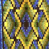 Для дома и интерьера ручной работы. Ярмарка Мастеров - ручная работа Московские  окна лоскутный плед. Handmade.