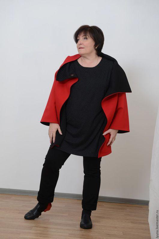 Большие размеры ручной работы. Ярмарка Мастеров - ручная работа. Купить Жакет-куртка двустороний вискоза+полиэстер. Handmade. Комбинированный