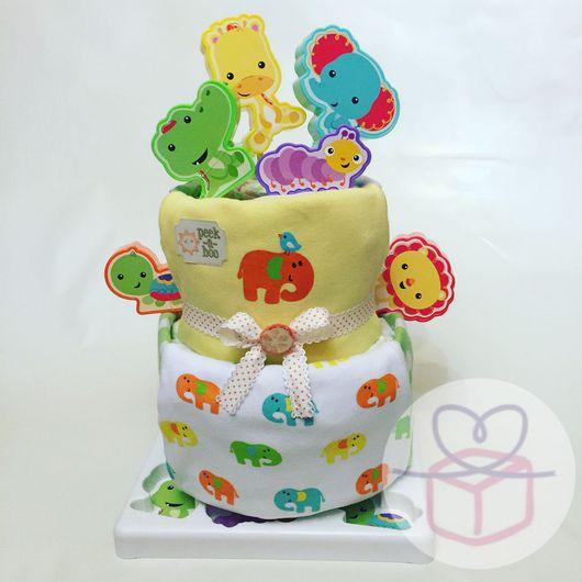"""Подарки для новорожденных, ручной работы. Ярмарка Мастеров - ручная работа. Купить Торт из подгузников """"Друзья из Африки"""". Handmade. Африка"""